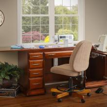 Room studio setup of sewing machine cabinet