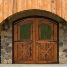 Double doors on a horse barn