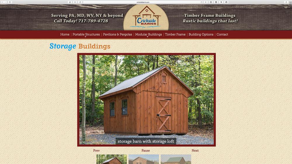 Crickside Barns - shed page - Desktop