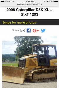 Cooleys Equipment - dozer page - mobile