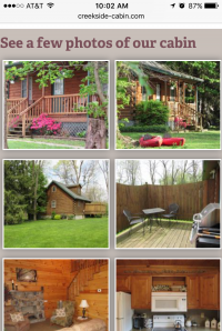 Creekside Cabin - Photo gallery - mobile