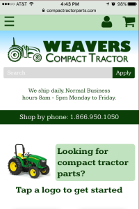 Compact Tractor Parts - Home page - Mobile