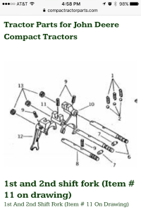 Compact Tractor Parts - John Deere page - mobile