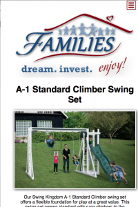 FAMILIES Catalog end playset page - mobile