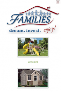 FAMILIES Catalog home page - mobile