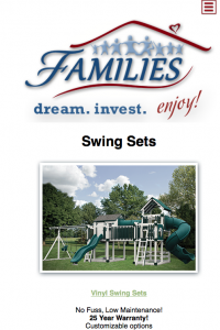 FAMILIES Catalog playset page - mobile