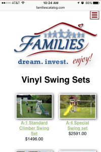 FAMILIES Catalog vinyl playset page - mobile