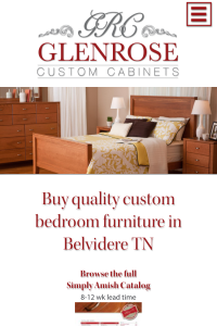 Glenrose Cabinet - furniture page - mobile