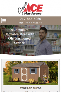 Jono Hardware - home page - mobile