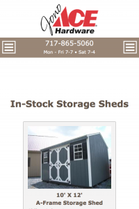 Jono Hardware - in stock shed page - mobile