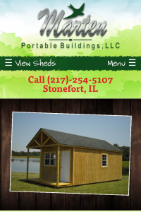 Marten Portable home page on mobile