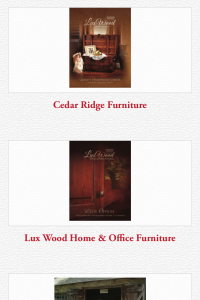 Memory Lane Furniture catalog page on mobile