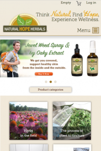 NHH - Home page on mobile
