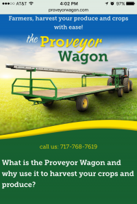 Proveyer Wagon - Home page - mobile