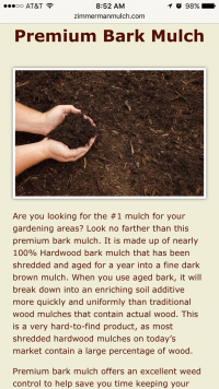 Zimmerman Mulch Products mulch page - mobile