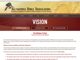 All Nations Bible Translation - vision page - desktop