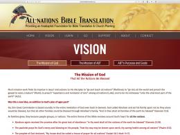 All Nations Bible Translation - vision page - desktop