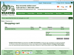 Compact Tractor Parts - shopping cart page - desktop