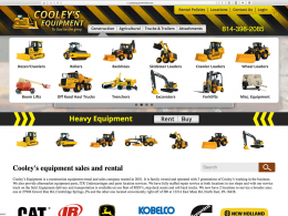 Cooleys Equipment - dropdown menu - desktop