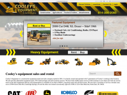 Cooleys Equipment - home page - desktop