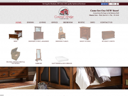 Covered Bridge Furniture - dropdown menu - desktop