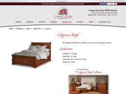 Covered Bridge Furniture - end bed page - desktop