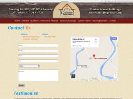Crickside Barns - contact page - Desktop