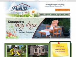 FAMILIES Catalog home page - desktop