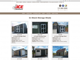 Jono Hardware - in stock shed page - desktop