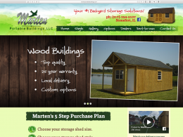 Marten Portable home page on desktop