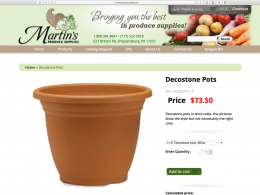 Martins Produce Supplies products display