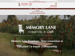 Memory Lane Furniture home page on desktop