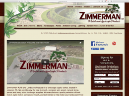 Zimmerman Mulch Products home page - desktop